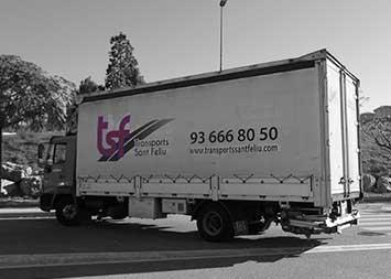 Transport camió de 8500 kg a Barcelona