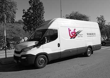 Transporte furgoneta de 1000 kg en Barcelona